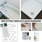 NON SLIP BATH SHOWER TRAY SAFETY MAT STICKERS WHITE CLEAR MODERN STYLE DISCREET