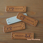 5pcs OR 20pcs Synthetic PU Leather Labels handmade & Classic Sewing Machine DIY