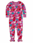 hatley footed coverall one piece onesie CRAZY HEARTS