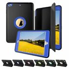 Shockproof Heavy Duty Hard Case & Smart Cover for Apple iPad 4 3 2 mini Air Pro