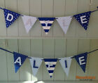 Personalised Childrens Wooden Bunting with Paintng FREE /Letters Sign #08