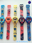 Boy Kid Children Minions OR Spiderman Digital rubber Band Wrist Watch gift him