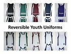 Youth Basketball Microfiber  Uniform  Reversible Shorts Jersey Team Boys Girls