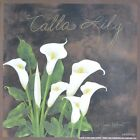 """ALP303 Calla Lily Annie LaPoint 6""""x6"""" framed or unframed print art flower floral"""