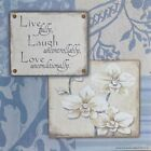 "JM7281 Live Laugh Love Jo Moulton 6""x6"" framed or unframed print art"