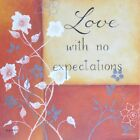 "KL1963 Love With No Expectations Kim Lewis 6""x6"" framed or unframed print art"