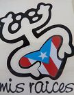 PUERTO RICO MIS RAICES COQUI TAINO WITH FLAG DECALS STICKERS 4X3 ASSORTED COLORS