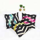 Modern Simple Geometry Colored Lines Cotton Linen Pillowcase Sofa Cushion Cover