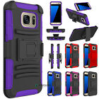 ShockProof Armor Heavy Case Cover + Belt Clip Holster for Samsung Galaxy S7 Edge