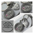 Mother and Daughter Love Keyring / Necklace - Mothre's day Gift