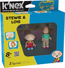 K&#039;NEX FAMILY GUY DUAL FIGURE MINI PACK-STEWIE &amp; LOIS, BRIAN &amp; MEG, PETER &amp; CHRIS <br/> CHOOSE FROM THE DROP DOWN MENU - 2&quot; TALL - BRAND NEW