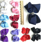 6'' Extra Big Bow Hair Clip Pin Alligator Clips Girls Ladies Ribbon Grosgrain UK