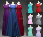 Evening Wedding Chiffon Lace Formal Ball Gown Long Prom Bridesmaid Party Dress