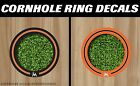Miami Marlins Cornhole Ring Bag Toss Cast Vinyl HD Hole Decals