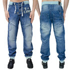 Mens Eto Jeans Cuffed Denim Designer Branded Pants Trousers Jogger Regular Fit