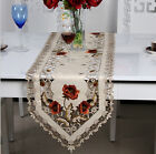 Table Runner Hollow Floral Embroidered Tablecloth Cutwork Fabric Home Decor