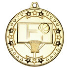 Basketball Medal 50 mm in 3 Colours with FREE Ribbon & Engraving upto 30 Letters