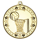 Netball Medal 50 mm in 3 Colours with FREE Ribbon & Engraving upto 30 Letters