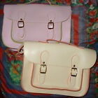 Ladies/Girls/Teens Small Faux Leather Satchel (Pink or Cream) [NEW]