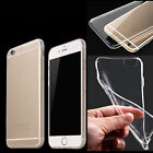 Transparent Clear Silicone Slim Gel Case Screen Protector for iPhone 6 6s Plus
