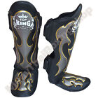 Top King Boxing Muay Thai Shin Guards Empower TKSGEM-01 Black Size S-M-L.