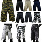PRO CLUB Mens Casual Twill CARGO Shorts Tactical Combat BDU 100% Cotton 30~54