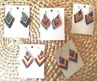 Boho Chic Chandelier Southwestern Tribal Bead Earrings Coachella