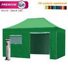 Eurmax 10x15 Commercial Ez Pop up Canopy Tent Gazebo with 4 Walls and Roller Bag