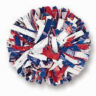 "00031BA One (1) Cheerleading Pom Poms, 6"" 3-Color Mix Plastic"