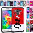 For ZTE Phone - 2 Layer Shockproof Rubber Hybrid Case Silicone Impact Tuff Cover