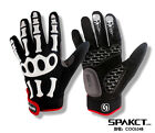 SPAKCT Full Finger Cycling Gloves-Skeleton Black White