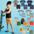 "NWT Vaenait Baby Kids Boys Short Pajama set Outfit Clothes ""Summer Boys"" 12M-5T"