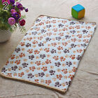 Dog Pet Small Medium Warm Paw Print Blanket Puppy Soft Modish Bed Mat