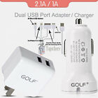 Dual USB Port Vehicle Car Charger Wall Power Adapter 5in1 Charging Cable