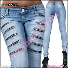 Women's Skinny Jeans Ladies Trousers Sexy Denim Hipsters Size 6,8,10,12,14 UK