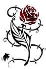 Tribal Rose with Thorns Iron On T Shirt / Pillowcase Fabric Transfer #20