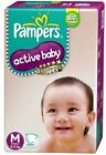 Pampers Diapers Active Baby Size 1 2 3 4 S M L XL New Economy Newborn Disposable