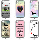 Phone Hard Case Cover Dog Puppy Dachshund Lovers Artistic Collection 24