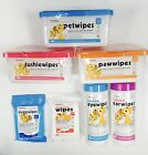 Petkin Pet Wipes Range EARS ~ EYES ~ PAWS ~ BOTTOM ~ PET ~ DOGGY ~ SMALL ANIMAL