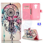 Dreamcatcher Wolf Owl Butterfly Cat Card Wallet PU Leather Stand Case For Phones