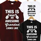 AWESOME SUPER GRANDAD DAD T SHIRT FATHERS DAY BIRTHDAY PRESENT GIFT TOP TEE COOL