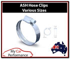 ASH Hose Clips Pipe Clamps - Silicone Rubber Stainless Steel or Zinc