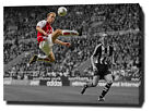 DENNIS BERGKAMP CANVAS PRINT POSTER PHOTO WALL ART ARSENAL ICONIC TOUCH