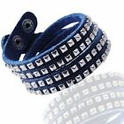 Unisex Double Strand Genuine Leather Bracelets  Men Women Teens Boys Girls