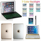 iPad Air 1/2 7 Colors Backlight Aluminum Bluetooth Keyboard Case Smart Cover AU