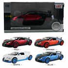 1:32 Bugatti Veyron Die Cast Model Car Kid Pull Back Friction MUSIC LED Vehicles