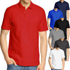 Plain Olympic Polo Shirt Short Sleeve  Mens Size