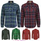 Womens Ladies Tartan Check Long Sleeve Button Down Lumberjack Blouse Shirt Top