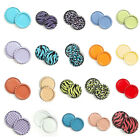 100pcs 1'' Flat Linerless Double Sided Painted Flattened Bottle Caps Craft BH