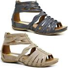 LADIES WEDGE SANDALS WOMENS HEELS STRAPPY SUMMER DRESS PARTY GLADIATOR SHOES SIZ